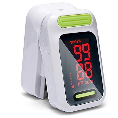 ZUKN Medizinischer Pulse Oximeter Portable Finger Pulse Oximeter LED Fingertip Oximeter Blood Oxygen Saturation Monitor