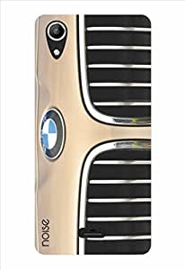 Noise Front Grille Brown Printed Cover for Micromax Canvas Selfie Lens Q345