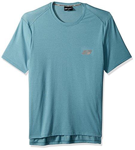 Skechers Herren Tonal Heather Tee T-Shirt, Arktisblau, Mittel