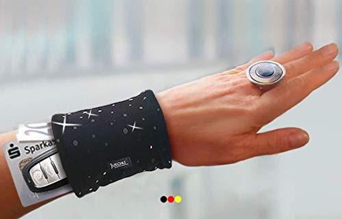 Armbandtasche schwarz Pailletten Handgelenktasche Festivaltasche zu Salsakleider Etuikleider Abendkleider lang kurz Kostüm originelle Geschenkidee Geschenk Frauen Damen