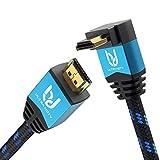 Ultra HDTV Premio - 7,5m Cavo HDMI 4K, 1x Attacco a Gomito a 270° | HDMI 2.0b, risoluzione 4K a 60Hz (senza interruzioni), HDR, 3D, ARC
