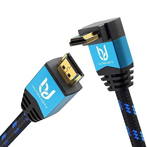 Ultra HDTV Premium 4K HDMI Kabel 10m mit 1x 270°-Winkel/HDMI 2.0b, 4K bei vollen 60Hz (Keine Ruckler), HDR, 3D