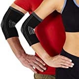 Coudière de Compression en Coton Unisex. Soulage : Tendinite, Epicondylite, Arthrose et Douleurs. Maintien du bras pour Musculation, Crossfit, Volley, Boxe, Tennis, Golf. Hypoallergenique.