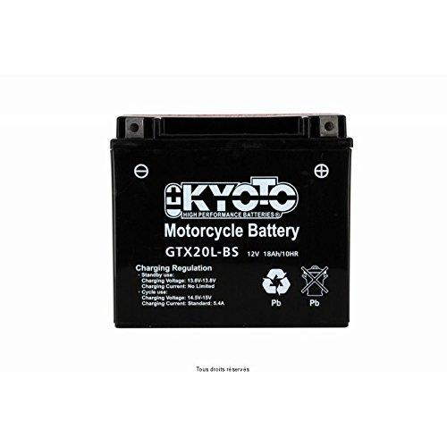 KYOTO Batterie Moto Ytx20l-bs - Ss Entr. Acide L 175mm W 87mm H 155mm 12v 18ah Acide 0,93l