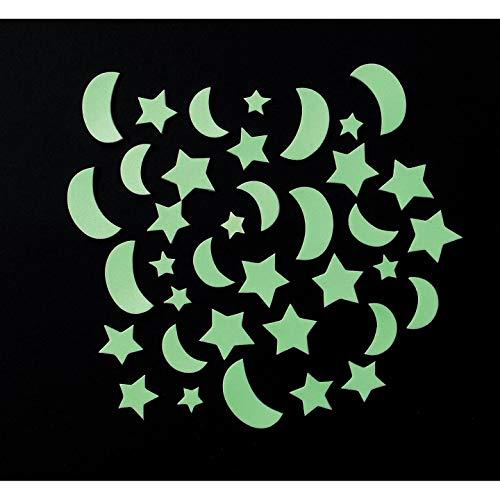 ies Nachtleuchtende Aufkleber Mini Monde 40Stück (6er Pack) 1028-84 ()