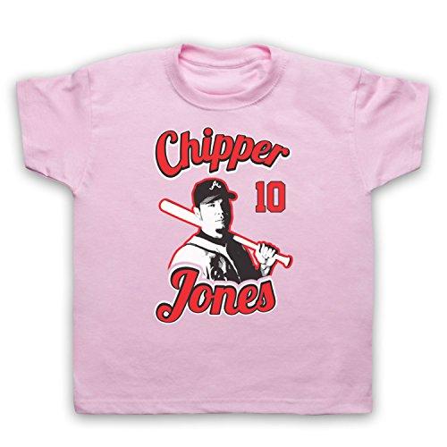 Inspiriert durch Chipper Jones Atlanta Braves Baseball Inoffiziell Kinder T-Shirt, Hellrosa, 12-13 Jahren (13 Chipper)