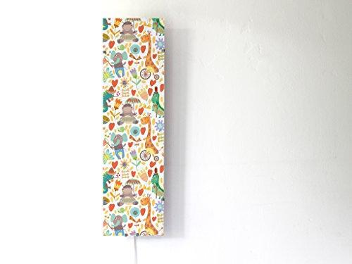 YOURDEA - Kinderzimmer Wechsel Bild für IKEA GYLLEN Wandlampe 95cm mit Motiv: Funky Jungle