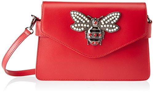 Chicca Borse 8801, Borsa a Spalla Donna, 28x19x5 cm (W x H x L) Rosso