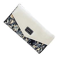 LHWY Envelope Women Purse Wallet Long Card Holder Mobile Zip Handbag (Black)