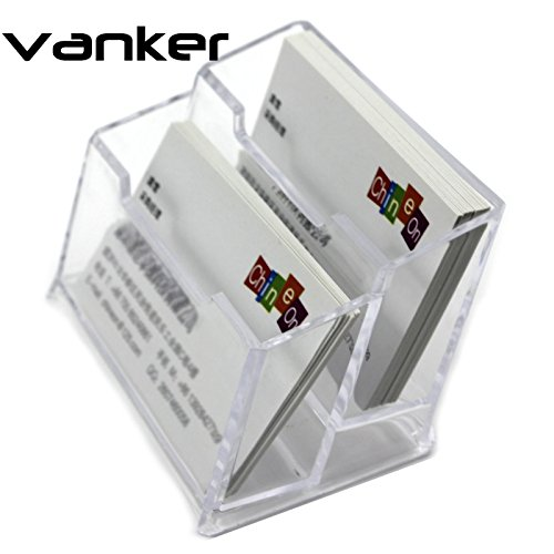 vanker-1-pcs-transparent-presentoir-a-carte-de-visite-en-plastique-dur-2-compartiments-porte-carte