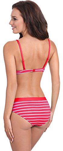 Feba Damen Push Up Bikini mit Shorts 1N61 Muster-401