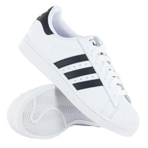 Adidas Originals Superstar 2 Scarpe Da Ginnastica Da Uomo Bianco (White Black)