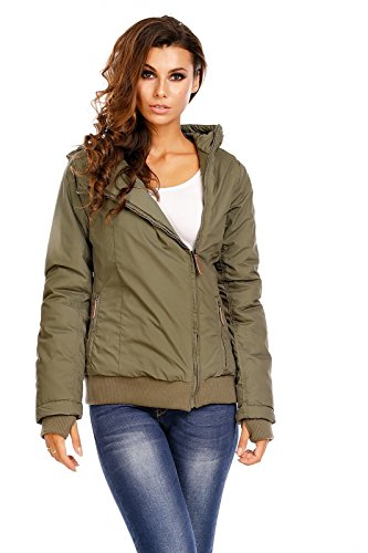 Urban Surface Damen Winterjacke mit Kapuze Oliv