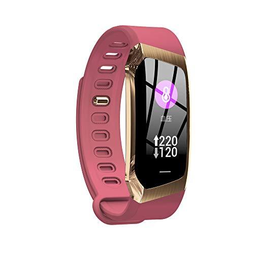 HTTXSBL Sportuhr Fitness Tracker Herzfrequenzerkennung Farbdisplay Bewegung Echtzeitüberwachung IP67 wasserdicht Rose