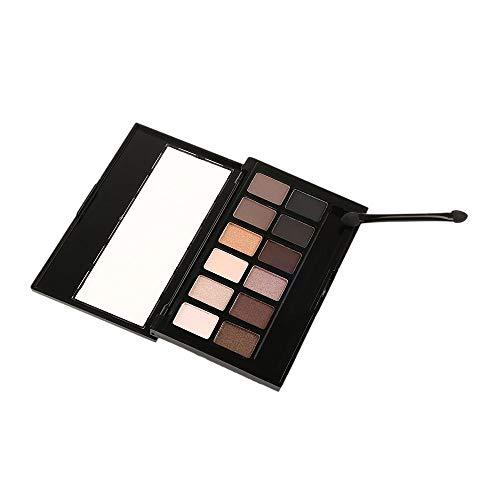 RSKD Lidschatten 12 Farben Pigment Bronzer Glitter Matte Lidschatten Marke Kosmetik Augen Make-Up Palette Nude Lidschatten Kit