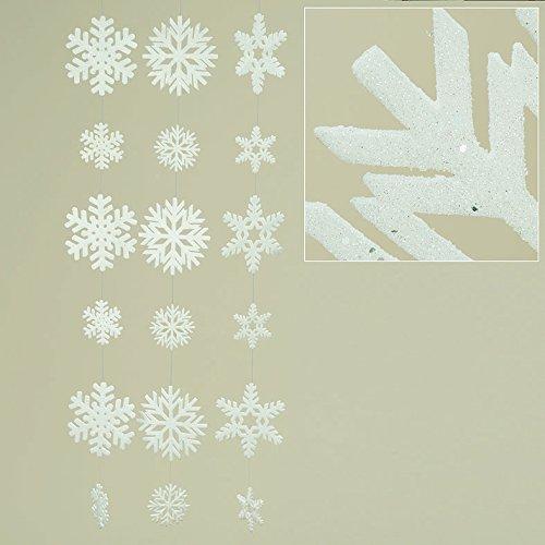 locke Kunststoff weiß Länge 130 cm, Weihnachten, Christmas (mittig (Stückpreis)) ()