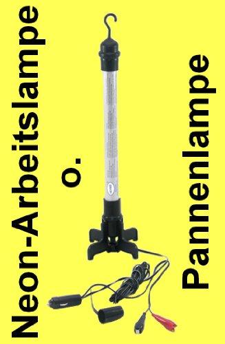 Preisvergleich Produktbild PKW Arbeitsleuchte Camping Lampe Pannenhilfe 12V 8W Neon Lampe Hoppystab