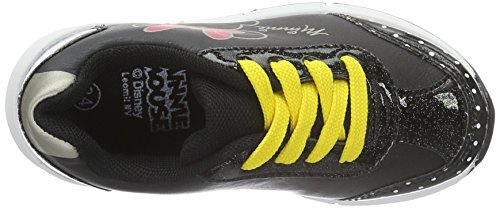 Disney Girls Kids Low Sneakers, Baskets Basses Fille Noir - Schwarz (Bk/Bk/Bk/Bk 182)