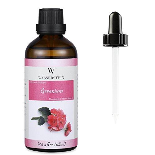 Wasserstein - Aceite esencial de geranio de grado terapéutico 120 ml 4 oz, 100% puro y natural ...
