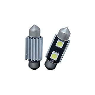 AP Automotive 2x Festoon LED Bulbs White 12v Canbus (2x SMD 5050 36mm) 272 - C5W - SV8. 5-8 - 239
