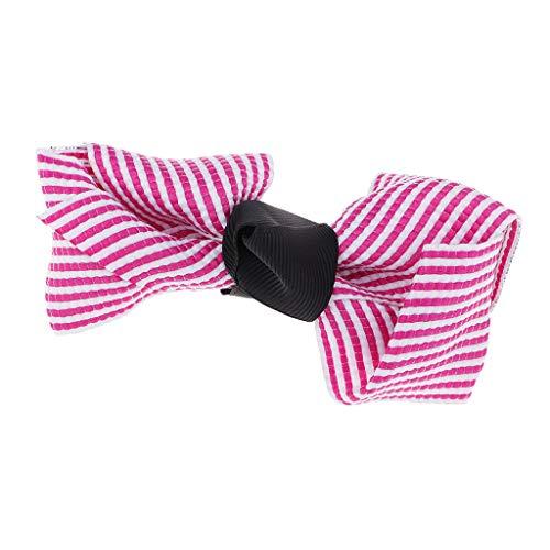 Sharplace Tuch Bowknot Mini Bowknot Kleid Satinband Schleife für Hochzeitsdeko Karten DIY Basteln Haar Bogen Hut Handwerk - Lila Rose, ()