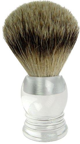 Fantasia - 9147 - Blaireau - Blaireau véritable - Argenté acrylique - Hauteur: 10 cm, ø 23.5 mm