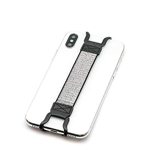 tfy security hand-strap per iphone, samsung e altri smartphone-iphone xs max/xs/xr/x/8plus/8/7plus/7/6plus/6e note 9/8/galaxy s9+/s9e altri smartphone-argento