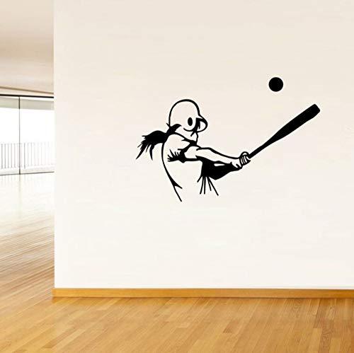 Baseball Dekoration Aufkleber Pvc Gym Boy Kinderzimmer Wohnzimmer Sofa Wandaufkleber Stadion Baseball Feld Kunstwand 45X30,5 Cm