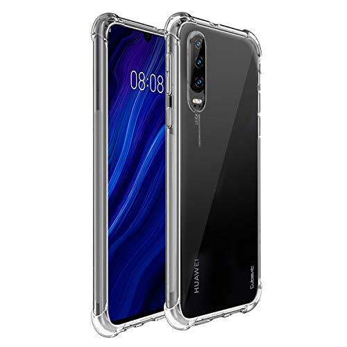 Cubevit Huawei P30 Hülle, [Lebenslange Ersatzgarantie] [Crystal Clear] Case Cover, Ultra Dünn Premium Soft TPU Schutzhülle, Kratzfest Durchsichtige Silikon Slim Handyhülle für Huawei P30