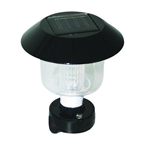 Lalizas Solar Relingleuchte RohrØ 19-25mm weiße LED Solarlicht Ankerlicht