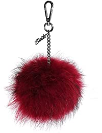 Oakwood Dixina XL Piel Pom Pom llavero con la caja de regalo rojo