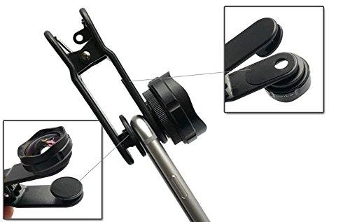 Clips Video 110 (HJG-Kamera-Objektiv-Kit, 110 ° Super-Weitwinkel-Objektiv & 25X Makro-Objektiv Clip Auf 2 In 1 Handy-Objektiv Für & Video Selbstauslöser Artefakt Universal-Smartphones Optisches Glaslinse Schwarz)