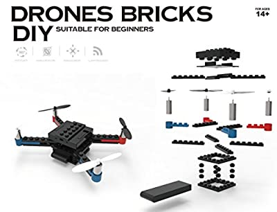 Flying Gadgets Build a Brick DIY Drone Kit - Tech Mini Drone Building Blocks Construction Kit
