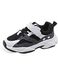 XL_etxiezi Zapatillas de Cuero para niñas Zapatos para niños, Gris_29