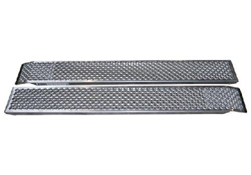Preisvergleich Produktbild Anhänger Rampe Auffahrrampe 1000kg gesamt Traglast 260x1500mm 60mm Bauhöhe Aluminium mit Hakenprofil 2St. Set