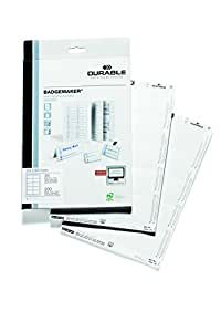 Durable Badgemaker of 200 Inserts, 54 x 90 mm - White