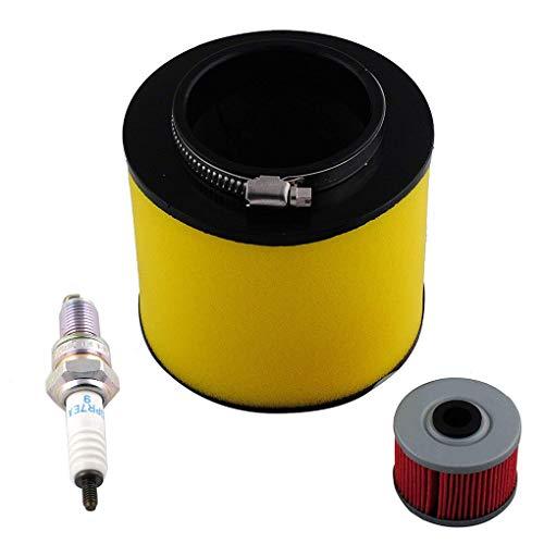 Lorsoul 3PCS Zündkerze Zündung Luftfilter Ölfilter Ersatzteil-Set für Honda Rancher 350 TRX350 (Honda Rancher 350 Zündkerze)