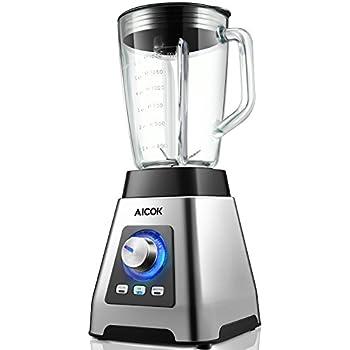 Aicok Batidora de vaso, Batidora para Smoothie 1200W, 7 niveles de ...
