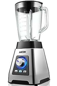 Aicok Frullatore, Blender ProBlend 6, Frullatori Potenza 1000W, Blender con Bottiglia 1.5 L BPA Free