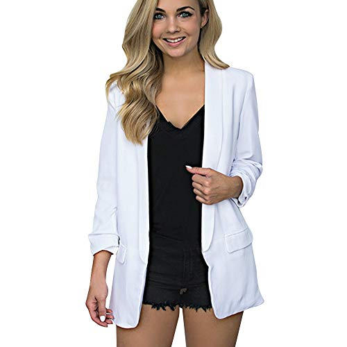 99721b139a4ff Heligen Mujer Abrigo de Simple-Fashion Invierno y OtoñO Elegantes Chaquetas  de Traje y Blazers