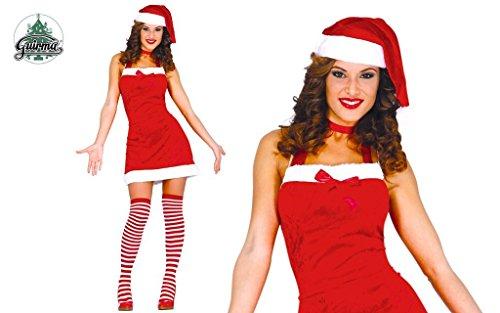 Costume babbo natale donna sexy babba mamma taglia M