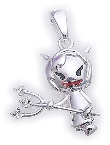 Silber 925 Anhänger Teufel mit Zirkonia Sterlingsilber Qualität Neu