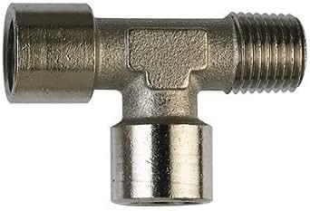 """AIGNEP - 1/8"""" BSP/ T plaqué cuivre M/F/F - filetage femelle contrebalancé x filetage mâle (adaptateurs cuivre plaqué nickel)"""