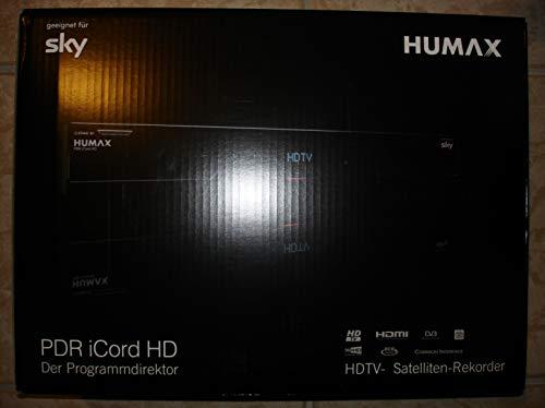 Humax iCord PDR HD Digitaler HDTV Satelliten-Receiver (HD Kartenleser, Twin-Tuner, DLNA, 250GB HDD, USB 2.0) Schwarz