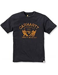 "Carhartt Maddock ""Hard To Wear Out"", T-Shirt mit Grafik-Druck, XXL, schwarz (102097.001.S008)"
