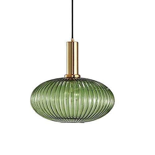 Mopoq Nórdica moderna lámpara de cristal, persiana japonés retro del vidrio verde iluminación pendiente...