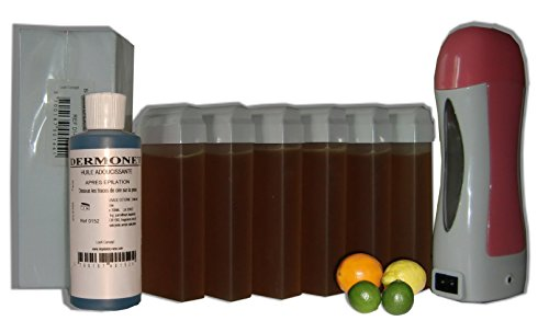 Storepil - SOLOR - Kit épilation 6 x 100 ml AGRUMES MIEL - 250 bandes