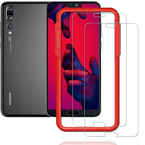 Galleria fotografica Ibywind 2PCS Pack Huawei P20Pro, pellicola * * installazione senza bolle applicatore tempered glass Screen Protector [anti-impronte] per Huawei P20pro-transparent