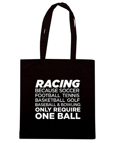 T-Shirtshock - Borsa Shopping OLDENG00614 racing Nero