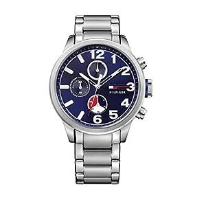 Reloj para hombre Tommy Hilfiger 1791242, mecanismo de cuarzo, diseño con varias esferas, correa de acero inoxidable.